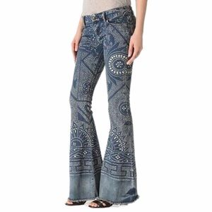 FREE PEOPLE DISCHARGE BALI FLARE JEANS
